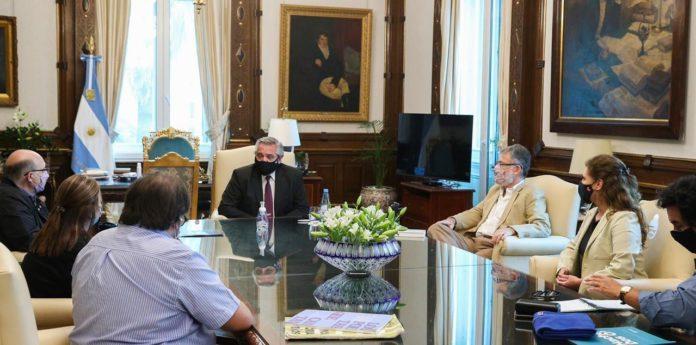 El Presidente Alberto Fernández recibió a La Coopi